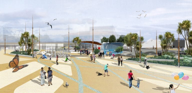 Artist impression of Bournemouth Pier by MeiLoci Landscape Architects