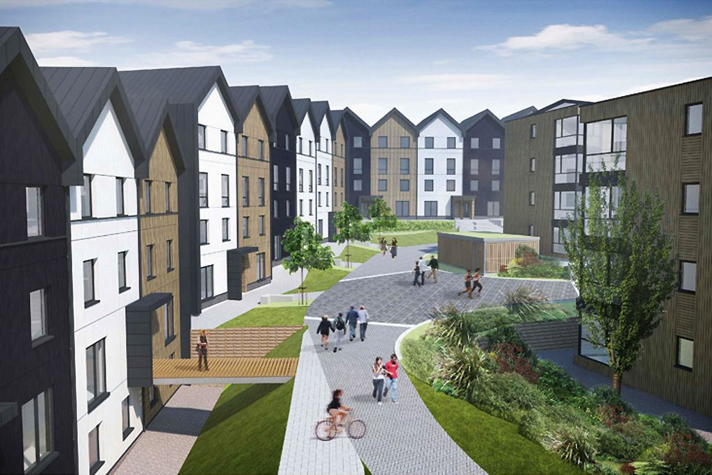 Falmouth University Student Accommodation, part of the University expansion plans
