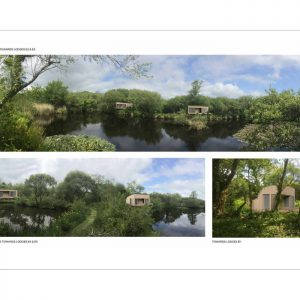 New holiday lodge design, Trecombe Lakes