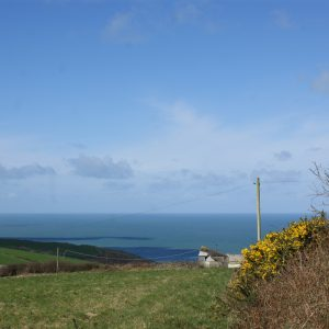 Coastal view of proposed site in an AONB