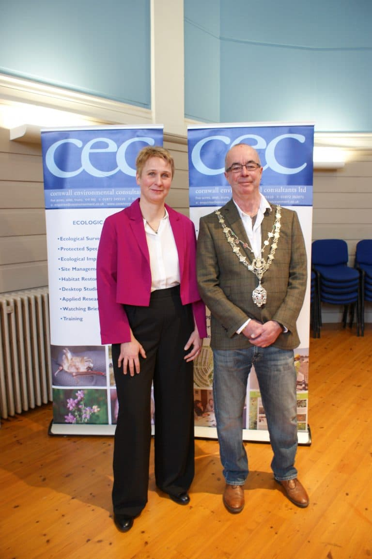 Birgit from CEC with Mayor of Truro
