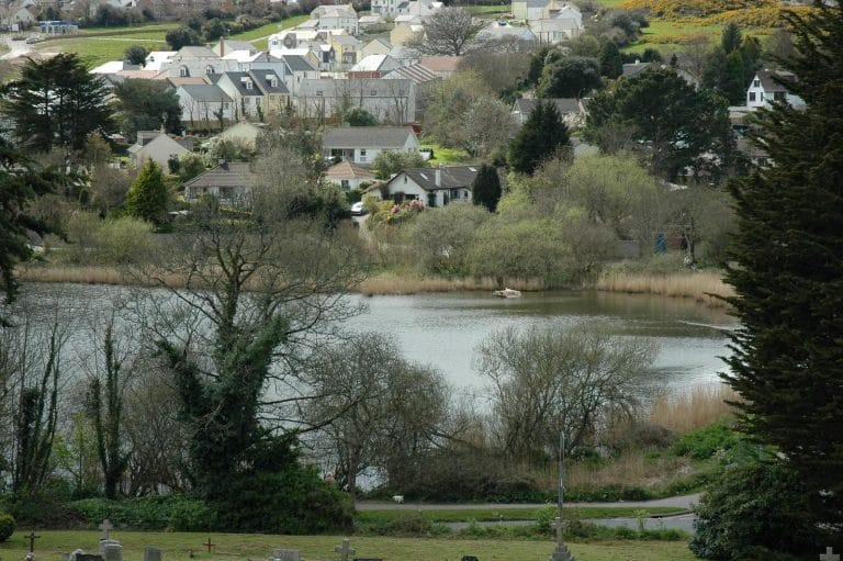 Swanpool and housing development A Howie