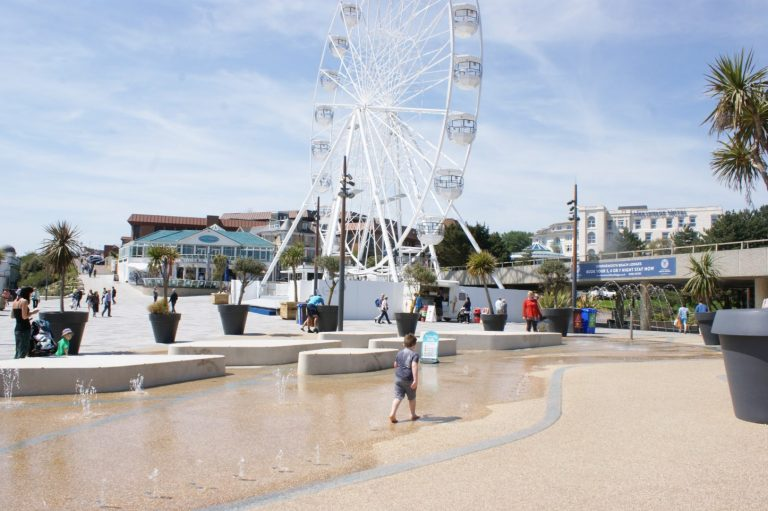 Water feature Bournemouth Pier Approach