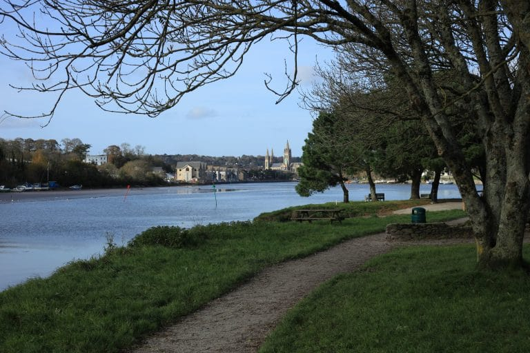 View from Boscawen Park to Truro City Centre