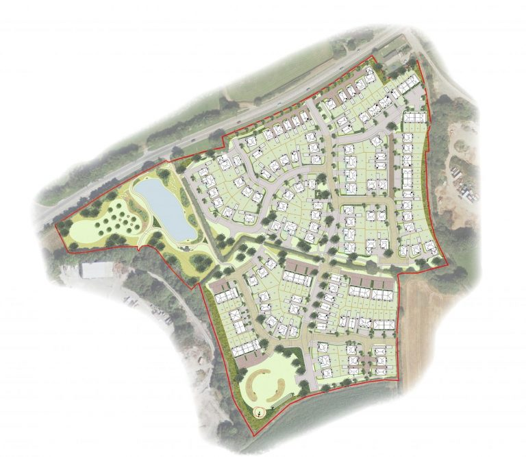 Rendered plan Coyte Farm