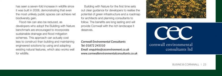 Business Cornwall - CEC feature September 2018