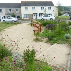 Bay View Terrace, Hayle hard landscaping. Photo credit: Cormac
